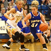 11-10-16<br /> Tri Central vs Tipton girls basketball<br /> Tipton's Taylor Robison dribbles around Tri Central's Emily Richard.<br /> Kelly Lafferty Gerber | Kokomo Tribune