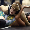 11-19-16<br /> Western wrestling<br /> Western's Noeah Morley in the 120 against BC's Kane Kayhew.<br /> Kelly Lafferty Gerber | Kokomo Tribune