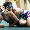 11-30-16<br /> Eastern vs Kokomo wrestling<br /> Kokomo's Z. Hall and Eastern's Dakota Spencer<br /> Kelly Lafferty Gerber | Kokomo Tribune