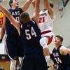 11-26-16<br /> Taylor vs Cass boys basketball<br /> Taylor's Gavin Cox shoots.<br /> Kelly Lafferty Gerber | Kokomo Tribune