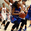 11-9-16<br /> Taylor vs Kokomo girls basketball<br /> Kokomo's Jayda Andrews looks to the basket.<br /> Kelly Lafferty Gerber | Kokomo Tribune