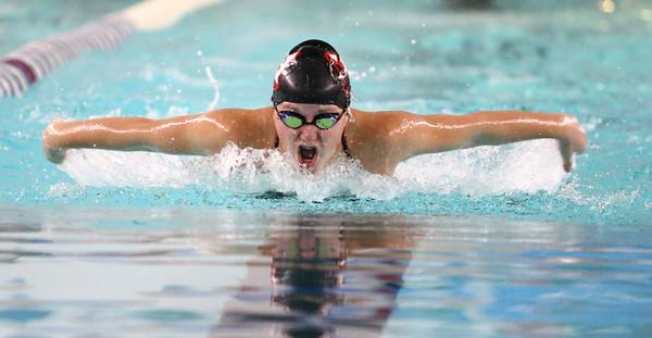 11-15-16<br /> Kokomo vs Western girls swimming<br /> Western's Delaney Lupoi in the 200 Yard IM<br /> Kelly Lafferty Gerber   Kokomo Tribune
