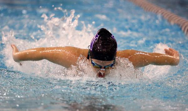 11-17-16<br /> Northwestern girls swimming<br /> Lexie Parrott in the 200 Yard Medley Relay<br /> Kelly Lafferty Gerber   Kokomo Tribune