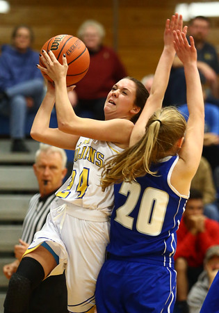 11-10-16<br /> Tri Central vs Tipton girls basketball<br /> Tri Central's Taylor Davis puts up a shot.<br /> Kelly Lafferty Gerber | Kokomo Tribune