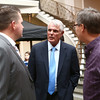 Lou Piniella, center, talks with Joe Thatcher, left, and Pat Underwood during Pitch in for Youth on Saturday, November 19, 2016.<br /> Kelly Lafferty Gerber | Kokomo Tribune