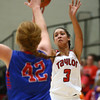 11-9-16<br /> Taylor vs Kokomo girls basketball<br /> Taylor's Asia Stabler shoots.<br /> Kelly Lafferty Gerber | Kokomo Tribune