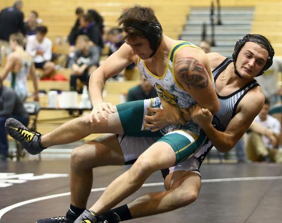 11-19-16<br /> Western wrestling<br /> Western's Matt Scott in th e182 against BC's Logan Crabtree.<br /> Kelly Lafferty Gerber   Kokomo Tribune