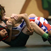 11-30-16<br /> Eastern vs Kokomo wrestling<br /> Eastern's Ethan Duchateau and Kokomo's Quentin Nix<br /> Kelly Lafferty Gerber | Kokomo Tribune