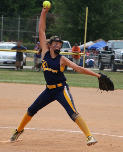 CHRISTY LEGAZA/CHRONICLE Synergy's pitcher Katie Barnhart gets the win the State Championship game vs Vermilion Riptide.