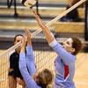 10-18-16<br /> Maconaquah vs Benton Central volleyball<br /> Addy Hahn tips the ball over the net.<br /> Kelly Lafferty Gerber | Kokomo Tribune
