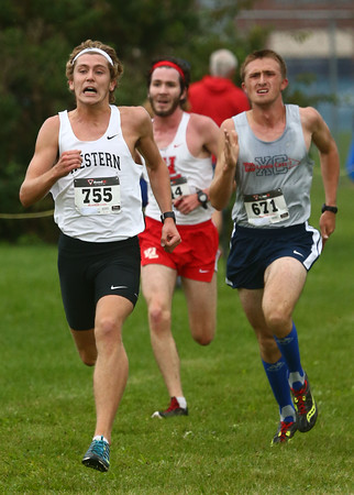 10-1-16<br /> Cross Country <br /> Western's Josh Everetts takes the lead for the first place finish.<br /> Kelly Lafferty Gerber | Kokomo Tribune