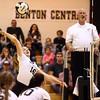 10-22-16<br /> Western vs Benton Central sectional vball championship<br /> Haley Berry spikes it over the net.<br /> Kelly Lafferty Gerber | Kokomo Tribune
