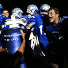 10-14-16<br /> Carroll vs Sheridan football<br /> Carroll's Dylan Spesard (right) celebrates with his teammates as they ring the victory bell after their win over Sheridan.<br /> Kelly Lafferty Gerber | Kokomo Tribune
