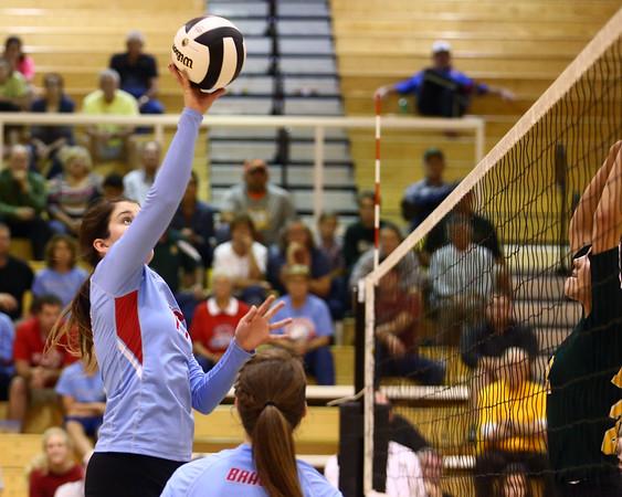 10-18-16<br /> Maconaquah vs Benton Central volleyball<br /> Julia Tidd makes a hit at the net.<br /> Kelly Lafferty Gerber   Kokomo Tribune