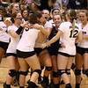 10-20-16<br /> Western vs Northwestern sectional volleyball<br /> Western celebrates after their victory over Northwestern in 5 sets.<br /> Kelly Lafferty Gerber | Kokomo Tribune