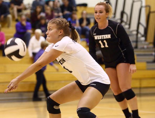 10-20-16<br /> Western vs Northwestern sectional volleyball<br /> Western's Brooke Jansen<br /> Kelly Lafferty Gerber   Kokomo Tribune