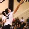10-22-16<br /> Western vs Benton Central sectional vball championship<br /> Sophia Rogers spikes it over the net.<br /> Kelly Lafferty Gerber | Kokomo Tribune