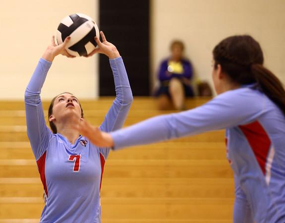 10-18-16<br /> Maconaquah vs Benton Central volleyball<br /> Alice Miller sets the ball.<br /> Kelly Lafferty Gerber   Kokomo Tribune