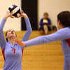 10-18-16<br /> Maconaquah vs Benton Central volleyball<br /> Alice Miller sets the ball.<br /> Kelly Lafferty Gerber | Kokomo Tribune