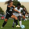 10-4-16<br /> Western vs Kokomo girls soccer<br /> Western's Taylor Kuhns and Kokomo's Elizabeth Patterson battle over control of the ball.<br /> Kelly Lafferty Gerber | Kokomo Tribune