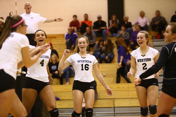 10-20-16<br /> Western vs Northwestern sectional volleyball<br /> <br /> Kelly Lafferty Gerber   Kokomo Tribune