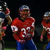 10-7-16<br /> Kokomo vs Harrison football<br /> Aion Jones celebrates after Kokomo picks up a loose ball.<br /> Kelly Lafferty Gerber | Kokomo Tribune