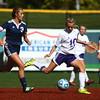 10-8-16<br /> Northwestern vs Lafayette Central Catholic girls soccer sectional<br /> Northwestern's Kailey Kidwell makes the kick before LCC's Emma Gerrety gets to the ball.<br /> Kelly Lafferty Gerber | Kokomo Tribune