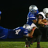 10-14-16<br /> Carroll vs Sheridan football<br /> Carroll's Dylan Spesard and Braden Barbour take down Sheridan's Joe Callahan.<br /> Kelly Lafferty Gerber | Kokomo Tribune