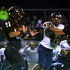 10-21-16<br /> Western vs Mooresville football<br /> Kitchel Gifford runs the ball.<br /> Kelly Lafferty Gerber | Kokomo Tribune