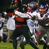 10-28-16<br /> Kokomo vs Huntington North football<br /> Luke Cameron takes down Huntington North's Mason Landrum.<br /> Kelly Lafferty Gerber | Kokomo Tribune