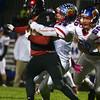10-28-16<br /> Kokomo vs Huntington North football<br /> Luke Cameron takes down Huntington North's Mason Landrum.<br /> Kelly Lafferty Gerber | Kokomo Tribune