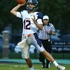 10-7-16<br /> Kokomo vs Harrison football<br /> Harrison's Jackson Vanderwielen throws a pass.<br /> Kelly Lafferty Gerber | Kokomo Tribune