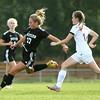 10-6-16<br /> Western vs Marion girls soccer<br /> Western's Sophie Weight kicks the ball.<br /> Kelly Lafferty Gerber | Kokomo Tribune