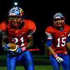 10-7-16<br /> Kokomo vs Harrison football<br /> Brevin Beard cheers after he scores a touchdown.<br /> Kelly Lafferty Gerber | Kokomo Tribune