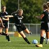 10-6-16<br /> Western vs Marion girls soccer<br /> Western's Emma Harbaugh kicks.<br /> Kelly Lafferty Gerber | Kokomo Tribune