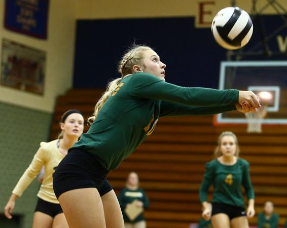 10-12-16<br /> Kokomo vs Eastern volleyball<br /> Eastern's Brooke Haalck.<br /> Kelly Lafferty Gerber   Kokomo Tribune