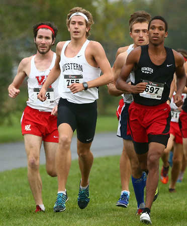 10-1-16<br /> Cross Country <br /> Western's Josh Everetts at the front of the pack.<br /> Kelly Lafferty Gerber   Kokomo Tribune
