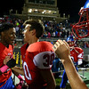 10-7-16<br /> Kokomo vs Harrison football<br /> Max Waltemath is congratulated by Steven Edwards after Waltemath kicks a field goal to win the game.<br /> Kelly Lafferty Gerber | Kokomo Tribune