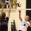 10-20-16<br /> Western vs Northwestern sectional volleyball<br /> Western's Bree Amsbury spikes the ball.<br /> Kelly Lafferty Gerber | Kokomo Tribune