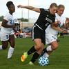 10-4-16<br /> Western vs Kokomo girls soccer<br /> Western's Samantha Garber controls the ball over Kokomo's Jenna Robertson.<br /> Kelly Lafferty Gerber | Kokomo Tribune