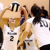 10-20-16<br /> Western vs Northwestern sectional volleyball<br /> Western's Karlyne Shepherd sets the ball.<br /> Kelly Lafferty Gerber | Kokomo Tribune