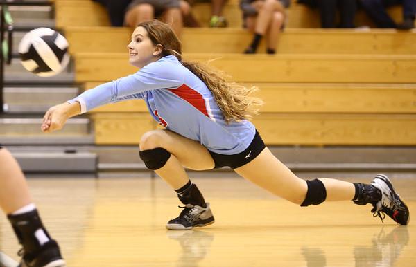 10-18-16<br /> Maconaquah vs Benton Central volleyball<br /> Lexie DiBattiste dives for the ball.<br /> Kelly Lafferty Gerber   Kokomo Tribune