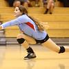 10-18-16<br /> Maconaquah vs Benton Central volleyball<br /> Lexie DiBattiste dives for the ball.<br /> Kelly Lafferty Gerber | Kokomo Tribune