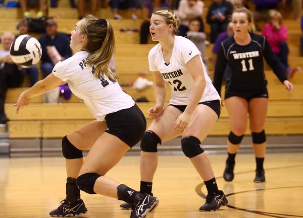 10-20-16<br /> Western vs Northwestern sectional volleyball<br /> Western's Haley Berry<br /> Kelly Lafferty Gerber   Kokomo Tribune