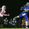 10-14-16<br /> Carroll vs Sheridan football<br /> Carroll's Brandt McClain makes the catch and runs to the goal line for a touchdown.<br /> Kelly Lafferty Gerber | Kokomo Tribune