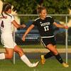 10-6-16<br /> Western vs Marion girls soccer<br /> Western's Sophie Weight keeps the ball away from Marion's Katie Erickson.<br /> Kelly Lafferty Gerber | Kokomo Tribune