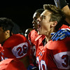 10-7-16<br /> Kokomo vs Harrison football<br /> Max Waltemath celebrates after the game and after he kicked a field goal to break the tie and win the game.<br /> Kelly Lafferty Gerber | Kokomo Tribune