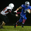 10-14-16<br /> Carroll vs Sheridan football<br /> Carroll's Trenton Brumett outruns Sheridan's Kenny Burnell.<br /> Kelly Lafferty Gerber | Kokomo Tribune