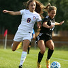 10-6-16<br /> Western vs Marion girls soccer<br /> Western's Sophie Weight and Marion's Rhoni Rumple battle over control of the ball.<br /> Kelly Lafferty Gerber | Kokomo Tribune