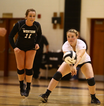 10-22-16<br /> Western vs Benton Central sectional vball championship<br /> Chase Epp passes the ball.<br /> Kelly Lafferty Gerber   Kokomo Tribune